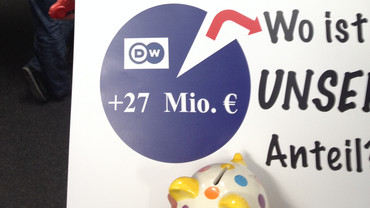 Gewerkschaften können Absenkung der Honorare bei der Deutschen Welle verhindern