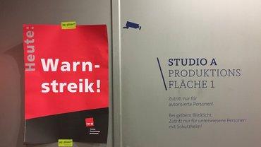 Warnstreik im WDR
