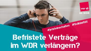 Befristungen, Befristete Arbeitsverhältnisse, Medien, WDR, Rundfunk,